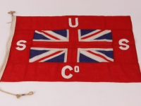 Bandera armatorska Union SS Company of New Zealand w Wellington